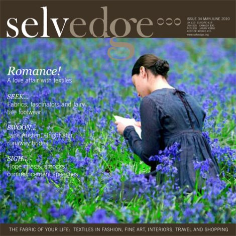 selvedge magazine, crafts, sewing, victoriana, bluebells, field, cover
