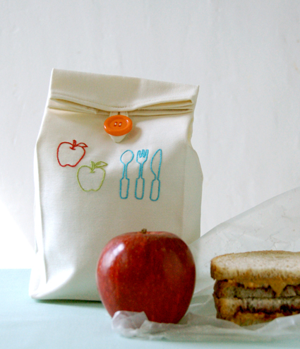 The Purl Bee back to school lunch bag