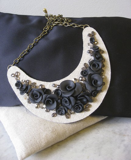 handmade craft flower necklace